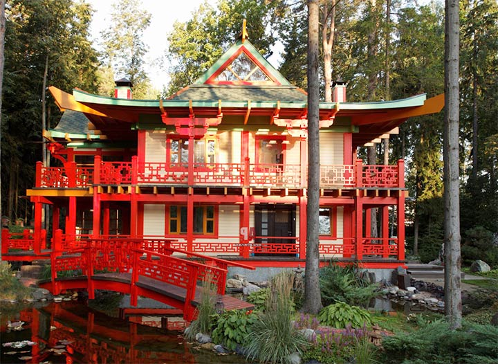 Коттедж в японском стиле
