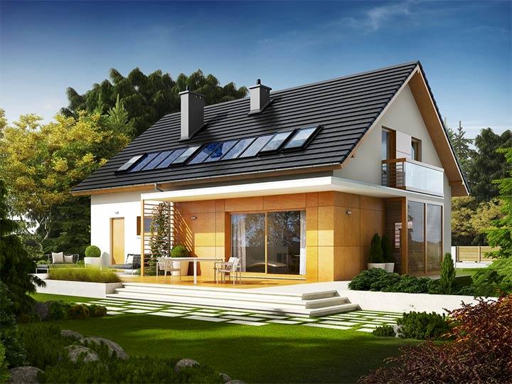 Крыша с двумя скатами